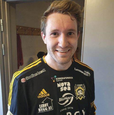 Scoret: Asgeir Bergeng reduserte for Lurøy FK.