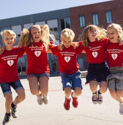 """""""Hopp for hjertet"""": Årets hoppetaukonkurranse er i gang."""