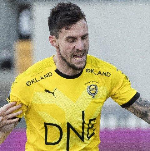 Ble uvel: Daniel Pedersen prøvde å fortsette, uten hell.