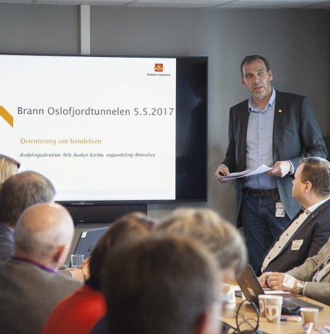 KRITIKK: Avdelingsdirektør Nils Karbø i Statens vegvesen må tåle sterk kritikk fra politisk hold i Hurum. Arkivfoto: Henning Jønholdt