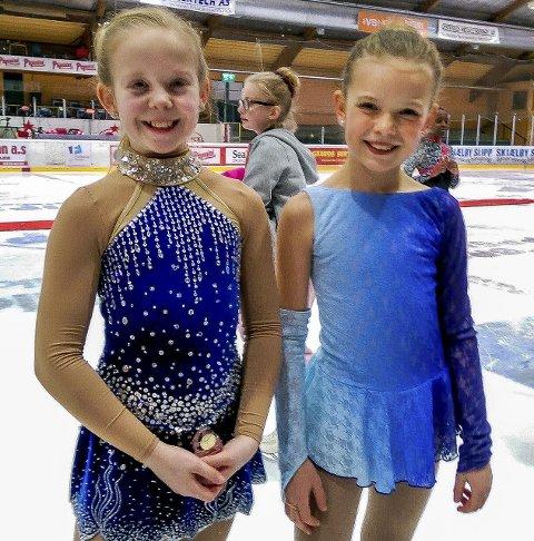 FLOTT INNSATS: Victoria Therese Bjune (t.v.) ble nummer fire i klassen cubs over 12 år, mens Celine Michalsen gjorde en fin innsats i oppvisning.