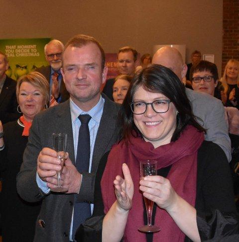 Får rød-grønn baby: Sps Lars Holene og Aps Kathrine Hestø Hansen får barn sammen til sommeren.