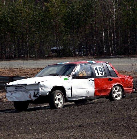 Volvo: Jonas Bergum stilte i en Volvo, og i ett av heatene ble han nummer to.