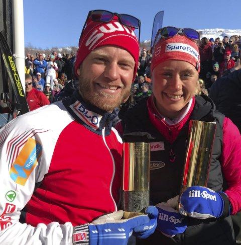 Ragnhild Haga vant Kobberløpet i 2018, sammen med Martin Johnsrud Sundby Nå kommer Haga tilbake, og får med seg Astrid Uhrenholdt Jakobsen. Trolig kommer også Martin Johnsrud Sundby til Sulis i april. Foto: Stian Høgland