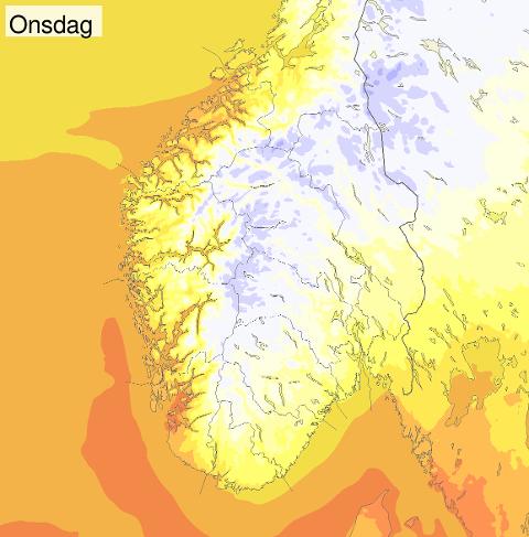 Det kommer varmt vær inn over Sør-Norge.