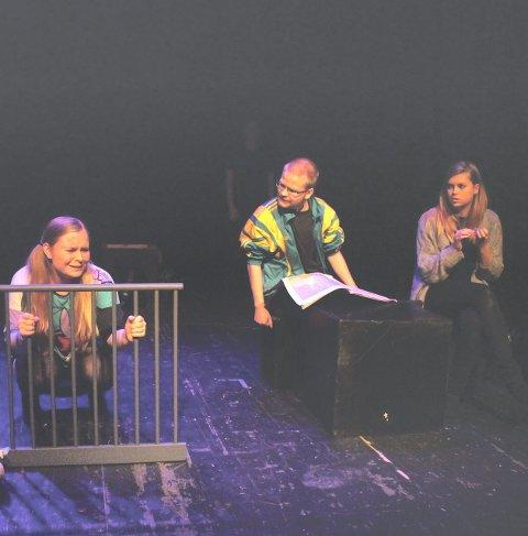 Familie: Familien spilles her av barnet Julie Noodt, far Geir Henry Rasmussen og mor Aleksandra Ingebretsen foto: benedicte wærstad