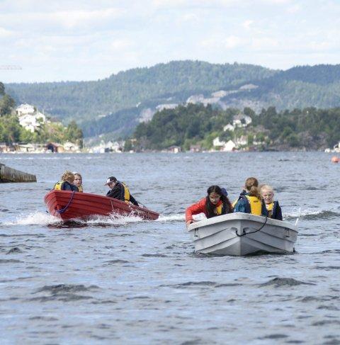 MOTOR: Båt med motor er mest populært blant deltakerne.