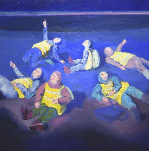 FRA TOFTE: Kai Eide er en av de lokale kunstnerne.