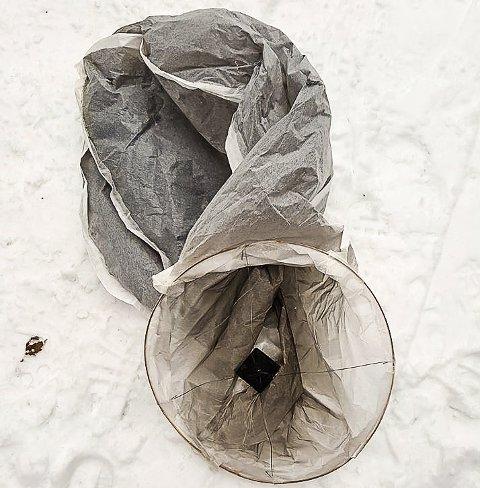 Fant denne: Dette er hva Eystein Ruud fant under søndagens tur i Nesoddmarka. Foto: Eystein Ruud