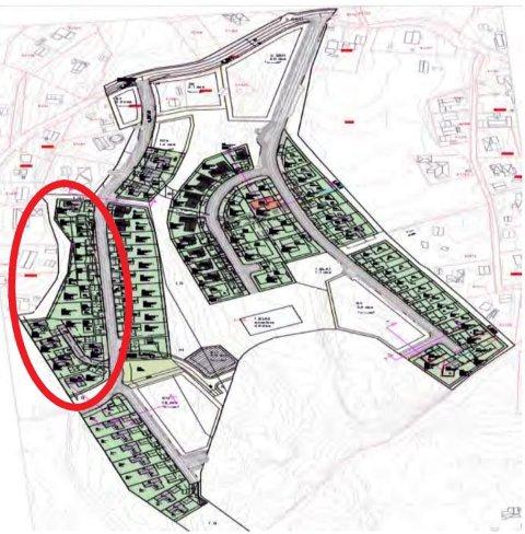 Utbyggeren i Råkenåsen i Ytre Enebakk ønsker å bygge ti eneboliger i dette delfeltet.