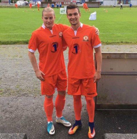Torbjørn Aabrekk (til høyre) skal spille for Ålgård FK kommende sesong.