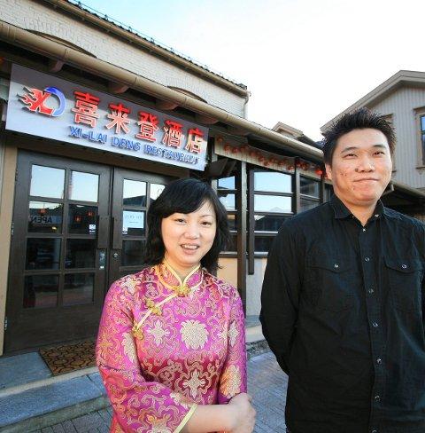 Ikke Larvik: Ting Cao og Jack Hang åpnet kinarestaurant i Kongegata 33 for fire år siden. Arkivfoto: Sigrid Ringnes