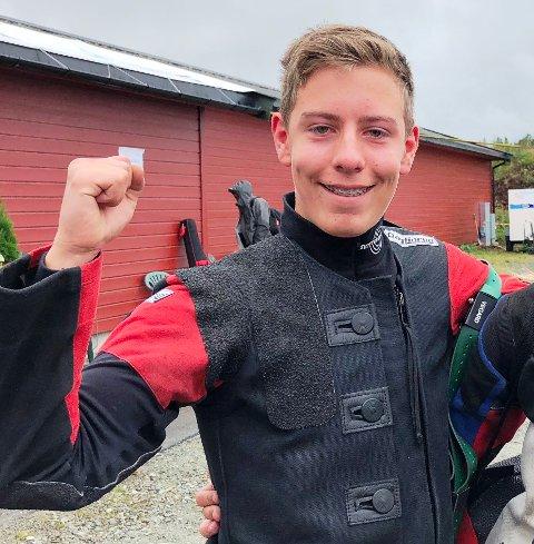 Vegard Saxebøl som skjøt 250 poeng og er helt i toppen i klasse Eldre Rekrutt og klar for finale.
