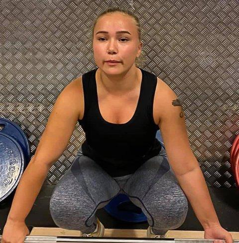 STYRKETRENING: Ruth Nilsen trener for å gjøre det enda bedre neste sesong. Da er håpet å komme på landslagsplass.