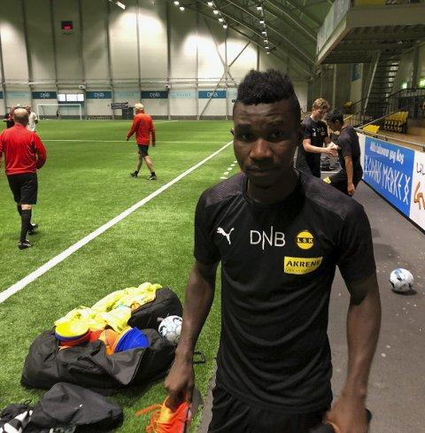 Tilbake, men ...: Ifeanyi Mathew håper oppholdet på Åråsen ikke blir langvarig. Foto: Per Morten Sødal