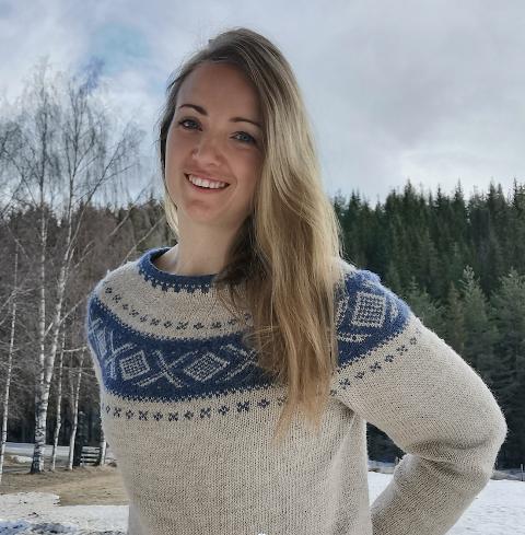 Spenning: Marit Hegge håper på læreplass ved Sykehuset Innlandet.