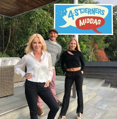 NYTT EVENTYR: Erik Alfred Tesaker er klar for et nytt TV-eventyr. Denne gangen 4 Stjerners Middag på TV Norge. Her er han flankert av Linda Johansen (t.v.) og Kine Olsen