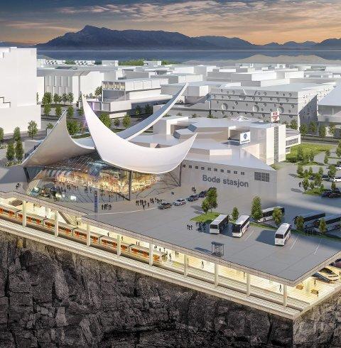 Jernbane: Havna er flyttet og jernbanen ledet under jorda til en ny stasjon nær flyplass og havn.