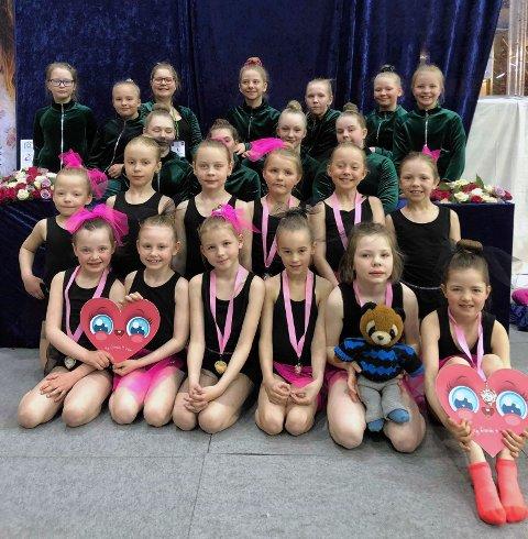 Det ble en spennende helg for de 24 gymnastene som deltok på RG-Glade dager i Asker.