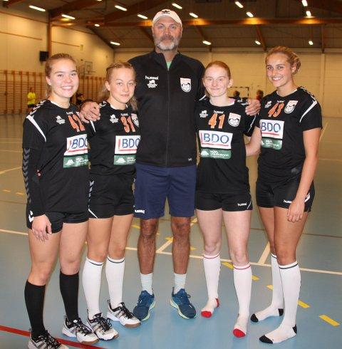 På regionsamling. Fra venstre Sofie Wold, Emilie Marie Wibe, Lars Edvardsen, Sara Lauritsen, Synnøve Lind Edvardsen.