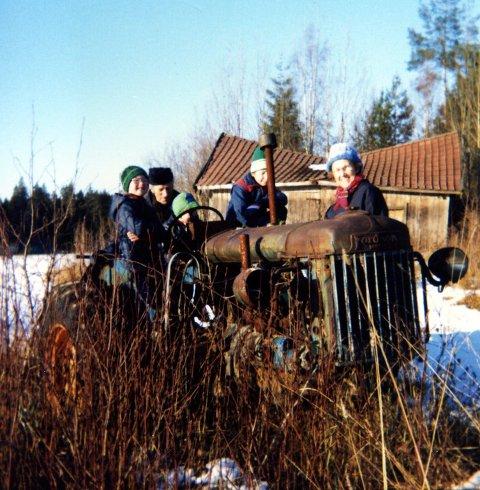 PÅ GRØNNLAND: Vi gikk som regel på ski over Grønnland, men det hendte vi brukte andre framkomstmidler au.