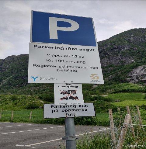 Bilde som Bjørn Arild Fjeldsbø sende til parkeringstilsynet.