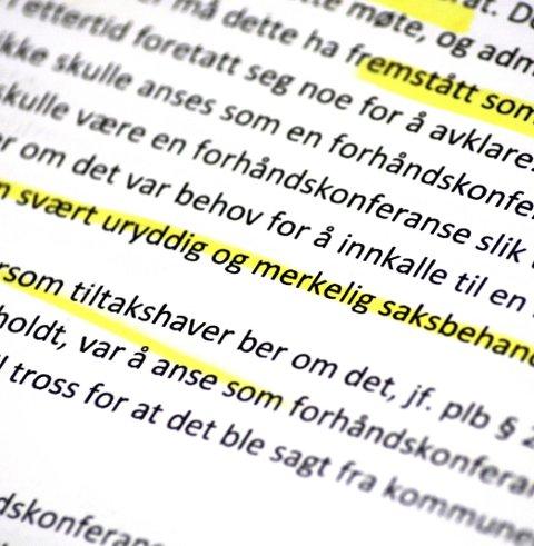 Byggesak Eikernveien, KS granskning: KS-advokat Erna Larsen var kritisk til kommunens saksbehandling i den langvarige saken.