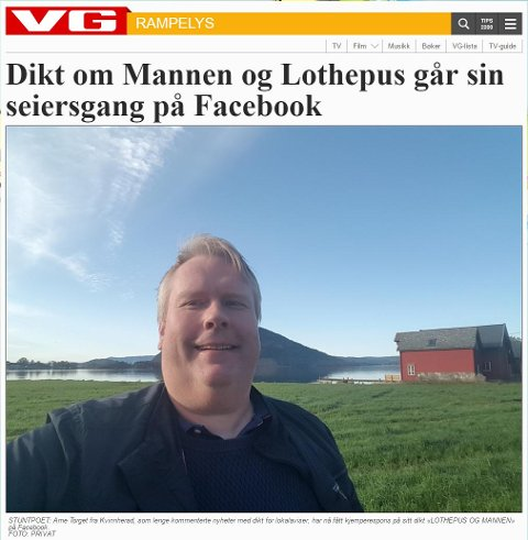 (Skjermdump frå VG si sak om Arne Torget).