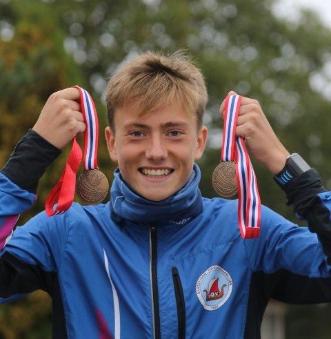 SLO TIL: Cornelius Bjørk fra Sandefjord OK sikret to medaljer under NM-uka i orientering.