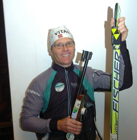 SPREK VETERAN: Truls Valmestad har vært med i skiskytterlaget helt fra starten i 1984, har gått forløperen til Ski Classics for GIF og tatt medaljer i veteran-VM i langrenn. Lørdag ble det pallplass i Birken og en sluttid godt under tre timer.