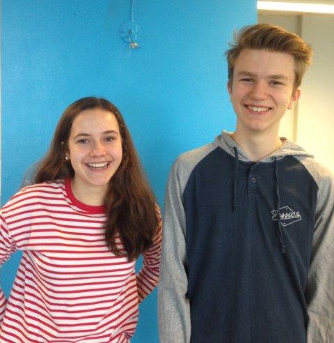 Ingri Østensen (14) og Anders Håkon Namtvedt (14) syntes at de også kunne fått prøvd ut noen litt mer innovative undervisnings metoder.