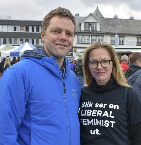 Uenige: Gaute Wahl og Anja Johansen sier Venstre gjør regjeringen mer liberal.Foto: Øystein Ingebrigtsen