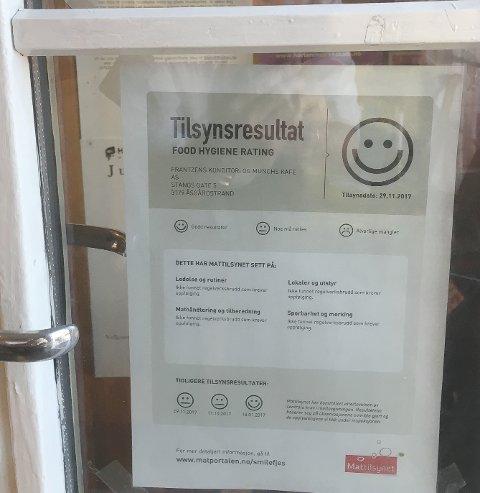 BEVIS: Med smilefjes til Munchs Cafe - Frantzens Konditori i Åsgårdstrand er Horten kommune dekket fullstendig med smilefjes.