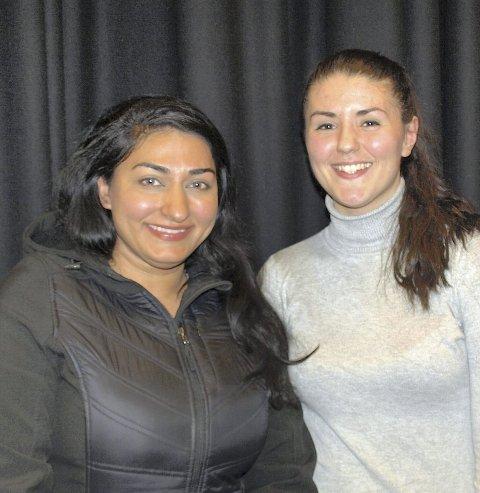 ENGASJERTE: Shabana Rehman Gaarder med Maria Skage El-Yousef, leder av ungdomsrådet i Bydel Søndre Nordstrand.