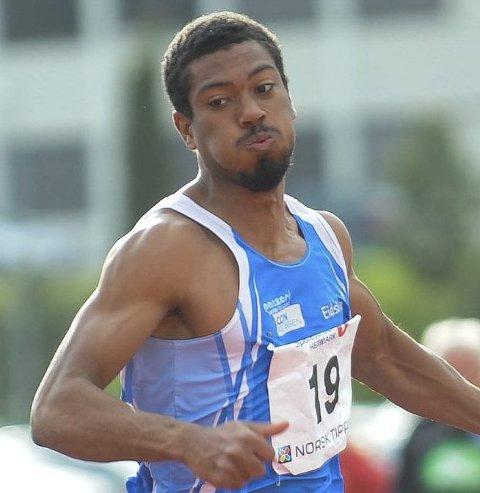 GULLVINNER: Jonathan Quarcoo tok NM-gull for juniorer i 100 meter.