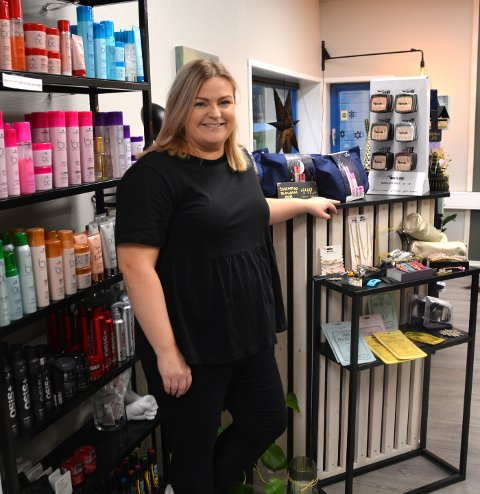 Soy: Da salongen stengte ned, solgte Sigrid Øyen hårprodukter som folk kunne hente.