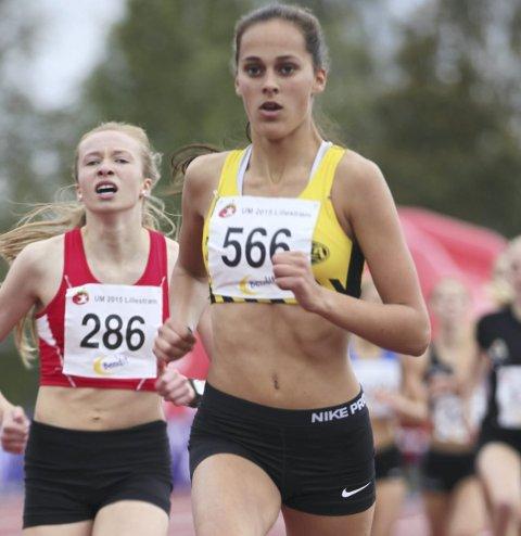 På topp: Solveig Hernandez Vråle fra Sturla sikret seg 2. plass på 400 meter hekk.