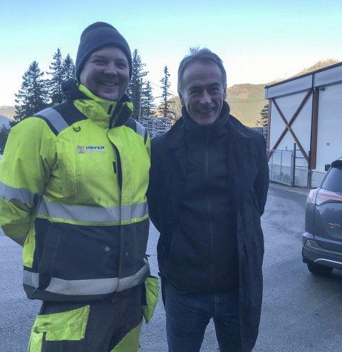 Høyer: Tillitsvalgt Torgeir Sandvin (t.v.) og regionleder Roger Pilskog. Foto: Privat