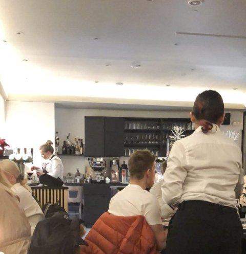 «Fjoren»: Restauranten har vært fullbooket før jul. Foto: Ernst Olsen