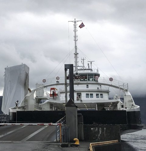 MF Samlafjord startet å gå på sambandet fra nyttår.