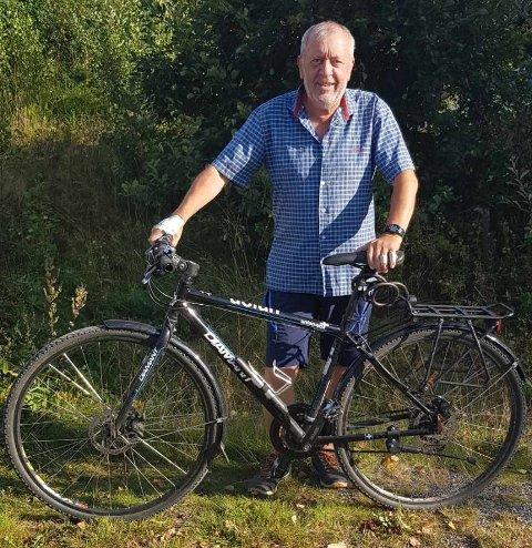 GJENFORENT: Kjell Vidar Skullestad fant igjen sykkelen flere dager etter hendelsen ved Korset 30. august.