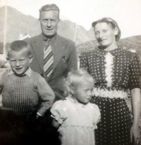 TRAGEDIE: I familien Sivertsen omkom mora Emely og datteren Eva. Oscar Sivertsen hentet Roger i Tromsø flere måneder etter katastrofen. Foto fra boka, utlånt av Roger Sivertsen