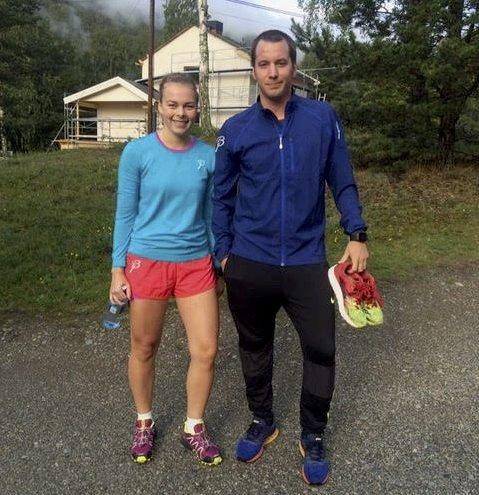Mari Gudbrandsen og Eirik Rusten er initiativtakere til Ottaløpet. Foto: Privat