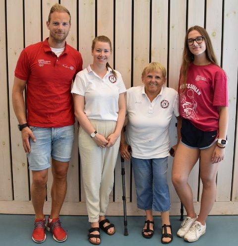 Martin Strand, Alexandra Hastings, Vigdis Mørdre og Lise Marie Meland har bidratt til at mer enn 30 barn og unge har blitt presentert for en rekke nye idretter.