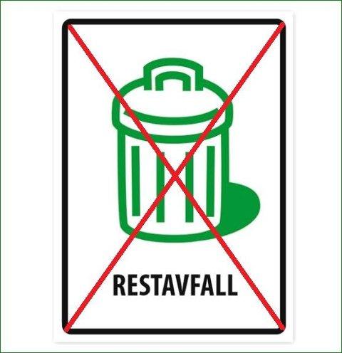 VKR skal fjerne alle stativer for restavfall fra 1.juni.