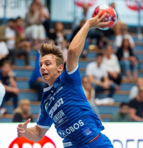SEKS MÅL: DHKs kantspiller Ola Hoftun Lillelien scoret seks mål da Halden ble slått med ti mål på bortebane. Her fra en kamp tidligere denne sesongen.