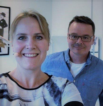 FØRST UT: Karin Fristad og Tor Ingar Jacobsen åpner rekka med forestillinger som Glasslåvens venner skal arrangere den første lørdagen hver måned.