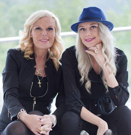 Familieselskap: Inger Ellen Nicolaisen og datteren Christinah Sandåker Nicolaisen vil nå utvide flere steder i utlandet.