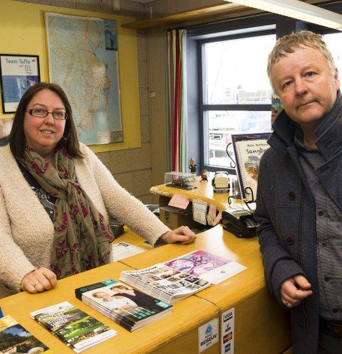 ARRANGØRER: Turistsjef Kristin M. Løkeberg i Visit Horten og ordfører Are Karlsen er del av gruppa som arrangerer Horten og Vestfolds innsamling til TV-aksjonen 2016.