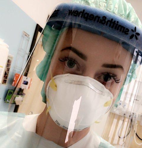 KORONA: Da koronaviruset kom til Sverige jobbet Silje Sæthre (29) fra Gran som sykepleier i Stockholm.